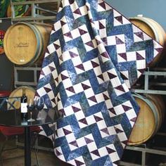 Wine Country: Easy Batik Throw Quilt Pattern McCalls Quick Quilts December/January 2017