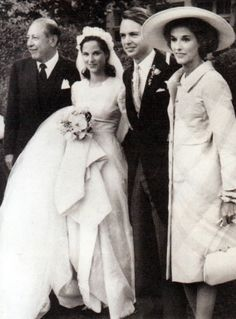 "Miss Amanda Jay Mortimer, the daughter of Mrs. William S. Paley, and Stanley G. Mortimer, Jr. was married to Shirley Carter Burden, Jr., a great-great-great-grandson of Cornelius ""Commodore"" Vanderbilt, on June 14, 1964 at St. Mary's Roman Catholic Church in Roslyn, New York. The bride's wedding dress was designed by Mainbocher. The reception, held at the Paley's Manhasset estate, took place under a pistachio green tent filled with pink and white flowers."