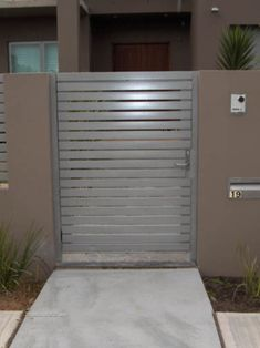 iron gate with perforated metal google search gates. Black Bedroom Furniture Sets. Home Design Ideas
