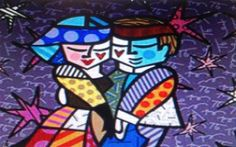 """Romero Britto """"All Night Dancing"""" Limited Edition on Canvas 20"""" x 24"""""""
