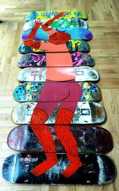 Art on skateboards