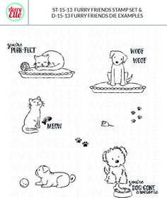 Avery Elle - Furry Friends Clear Stamps, $15.00 (http://www.averyelle.com/furry-friends-clear-stamps/)