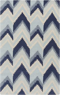 Mount Perry Beige & Navy Rug design by Florence Broadhurst
