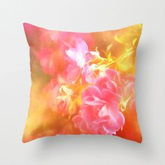 Beautiful Floral Throw Pillow Cover Modern/Shabby Chic/Bright/Vintage Style