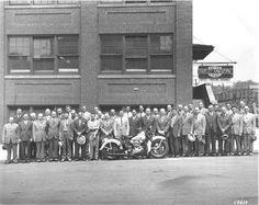 This collection of Harley-Davidson factory photos contains a little bit of everything.  There are pictures showing the assembly of some ...