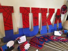 Spiderman Wooden Name Letters Spiderman Birthday Letters Spiderman Theme Party, Hulk Party, Spiderman Kids, Combined Birthday Parties, 3rd Birthday Parties, 4th Birthday, Hulk Birthday, Superhero Birthday Party, Name Decorations