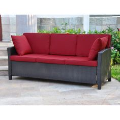 Sofas And Couches On Clearance Wicker Cushions All Weather Outdoor  Contemporary #InternationalCaravan