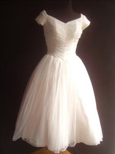 50s VTG Frothy Peach Sheer Ruched Bodice Prom Party Wedding Dress XS Full Circle