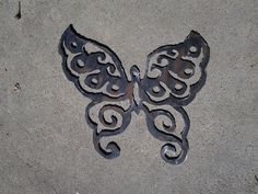 Plasma cut steel metal art, 15' x 17, butterfly, yard, garden, wall art, spring, painted or natural, gorgeously imperfect, flowers, silhouette, monarch, sign, recycled, up-cycled, repurposed metal...