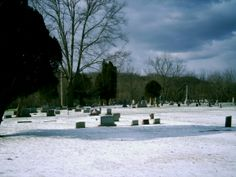 Boston Mills, OH (Summit County) - Boston Mills Cemetery on a snowy day.
