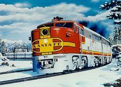 Favorite Railroad name? Christmas Greetings, Christmas Cards, Christmas Things, Bnsf Railway, Burlington Northern, Santa Fe, Trains, Names, History