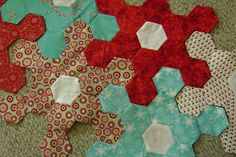 Quilting is more fun than Housework...: English Paper Piecing