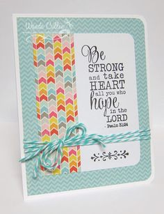 Card by Wanda Cullen using Each Day from Verve Stamps.  #vervestamps