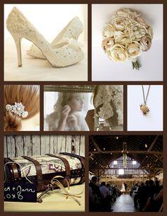 Rustic wedding ideas - barn wedding - lace shoes - ivory peonies
