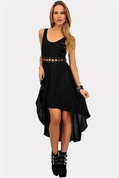 Nothing But Net Dress - Black Oh damn