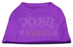 Trouble Maker Rhinestone Shirts Purple XS (8)