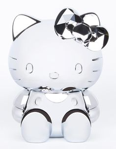 HK |❣| HELLO KITTY x Sephora 40th Anniversary Silver Figurine and Brush Set Container