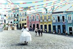 Salvador de Bahia..home of the music Baiao, many Afro Brazilian art forms and colourful houses..