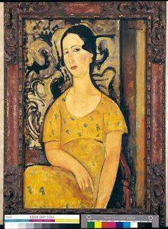 Amedeo Modigliani,  La bella spagnola o Madame Modot 1918 Olio su tela, cm 92 x 50 Torino, Società Culturale Subalpina © Collezione Privata
