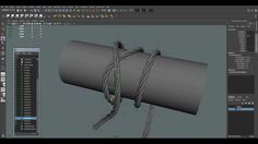 Maya Tutorial: Creation Wires, Rope