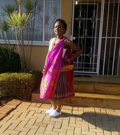 Beautiful Tsonga lady in a traditional xibelani and nceka. South Africa, Empire, Sari, Traditional, People, Beautiful, Fashion, Saree, Moda