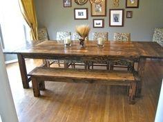 DYI farm table http://media-cache8.pinterest.com/upload/119838040054647322_vOzYsgRi_f.jpg jennkavanagh home decor
