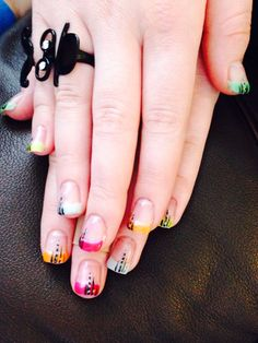 Colorful tips with black