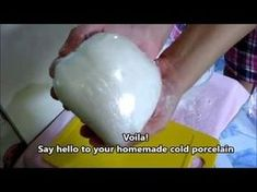 Best Homemade Clay: It's better than cooked Cold Porcelain Clay - YouTube