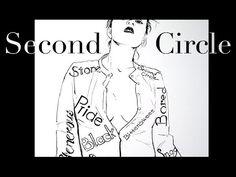 Second Circle, a dip pen drawing