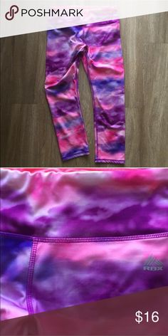 RBX Workout Capris These pink and purple workout capris are suh a fun workout accessory! Never worn, like new. RBX Other
