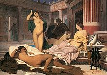 Greek Interior [sketch] by Jean-Leon Gerome (ARC) Charles Gleyre, Jean Leon, Munier, The Birth Of Venus, Academic Art, Interior Sketch, Classical Art, Pompeii, French Artists