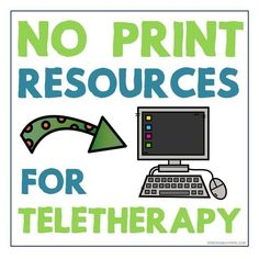No Print Resources for Teletherapy Speech Therapy (both English and Spanish speech therapy materials) - Speech is Beautiful #speechtherapy #teletherapy #noprintspeechtherapy #spanishspeechtherapy