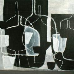 still life# blackandwhite# art by PoukeHalpern House Painting, Painting On Wood, Abstract Lines, Abstract Art, Grey Mugs, Cubism Art, Textile Fiber Art, Mosaic Diy, Still Life Art