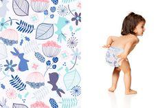 Honest Diapers in Winter Floral #Winter2015 #effective #safe #delightful