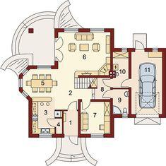 Projekt domu Gracjan 131,33 m² - koszt budowy - EXTRADOM Beautiful House Plans, Beautiful Homes, 1200 Sq Ft House, Sweet Home, Floor Plans, House Design, How To Plan, Home Decor, September