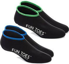 5c66804f15f2 FUN TOES Neoprene Socks for Water Sports for Women   Men - 2 PAIRS of  Snorkel