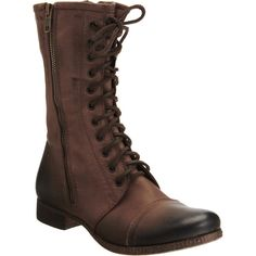 Barneys New York CO-OP Combat Boot found on Polyvore