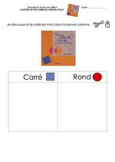 EXERCICES: en lien avec Quatre petits coins de rien du tout, Jérôme Ruillier