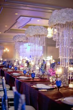 Wedding designs by Atlanta Wedding Planners, André Winfrye Events Candelabra Centerpiece, Wedding Centerpieces, Wedding Table, Wedding Decorations, Desi Wedding, Wedding Events, Ceiling Draping, Floral Chandelier, South Asian Wedding