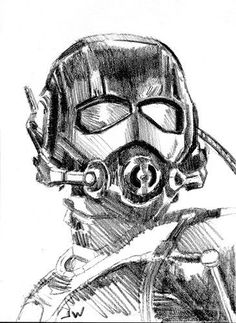 marvel sketches Ant-Man Sketch Card Drawing by Jeff Ward Avengers Drawings, Avengers Art, Marvel Art, Pencil Art Drawings, Art Drawings Sketches, Realistic Drawings, Super Anime, Man Sketch, Card Drawing