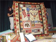 Jina Barney's quilt for her Eagle Scout son.