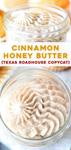This Cinnamon Butter recipe is a Texas Roadhouse copycat and with only 4 ingredients, it's so easy to make at home. You'll want to spread it on everything! Cinnamon Honey Butter, Salted Butter, Herb Butter, Cinnamon Muffins, Cinnamon Cookies, Cinnamon Cake, Cinnamon Powder, Cinnamon Spice, Cinnamon Rolls