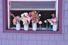 Ranunculus, Dusty Miller, Sweet Peas, Craspedia :  wedding FLOWERVASES