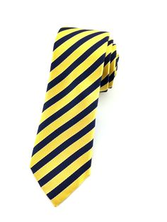 Yellow and Blue Stripes - Skinny Tie – Aristo Ties Street Smart, A Guy Who, Edgy Look, Skinny Ties, Wedding Men, Blue Stripes, Are You The One, Ties Online, Neckties
