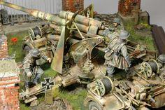 German 88 in action.  война есть война — Каропка.ру — стендовые модели, военная миниатюра