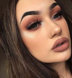 Orange browns. Warm browns eyes makeup cort