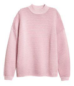 Textured-knit Sweater   Warm in H&M