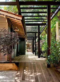 The wooden pergola is a good solution to add beauty to your garden. If you are not ready to spend thousands of dollars for building a cozy pergola then you may devise new strategies of trying out something different so that you can re Landscape Design, Garden Design, House Design, Landscape Steps, Patio Design, Outdoor Rooms, Outdoor Living, Outdoor Furniture, Design Exterior