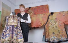 Roxanne Fea and Chinese Robes, 25 Aug The Daily Telegraph (closed gifted by The Daily Telegraph, collection of Hawke's Bay Museums Trust, Ruawharo Tā-ū-rangi, The Daily Telegraph, Museums, Trust, Art Gallery, Lens, Kimono Top, Chinese, Collection, Fashion