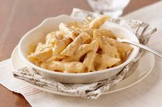 Pasta with Creamy Pumpkin Sauce recipe.  Introduced to me by a friend...we make it every year and it's always a hit!  Even with people who claim to not like pumpkin.  (How is that possible?)  I like mine with extra cayenne!